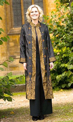 Black Gold Silk Kaftan Perri Ashby