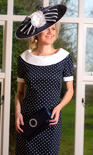 Black Wiggle Dress with Hat