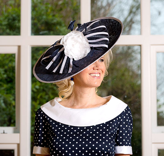 Black and white hat Perri Ashby