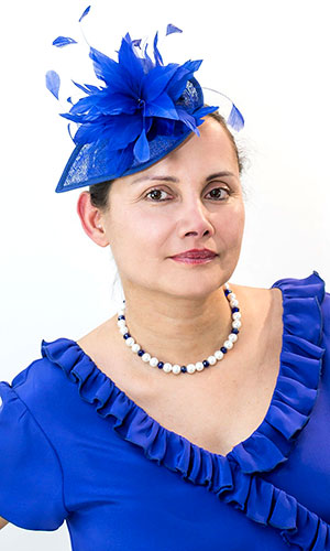 Royal Blue Cocktail Hat Perri Ashby