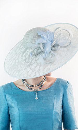 Blue Grey Hat Perri Ashby