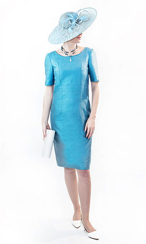 Blue Silk Mother of the Bride Dress Perri Ashby