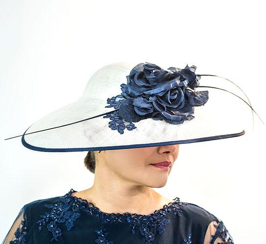 Blue White Perri Ashby Hat