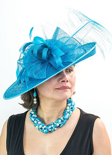 Turquoise Blue PerrI Ashby Hat