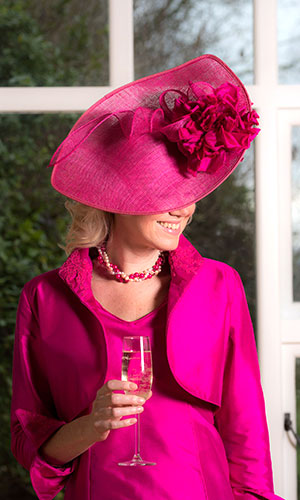 Bright Pink Mother of the Bride Hat Perri Ashby
