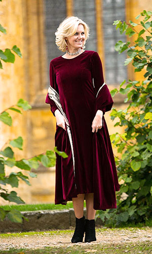 Burgundy Velvet Mother of the Bride Dress Perri Ashby