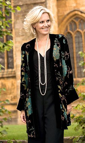 Devore Silk Velvet Jacket Perri Ashby