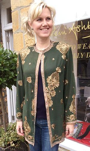 Green Silk Kaftan