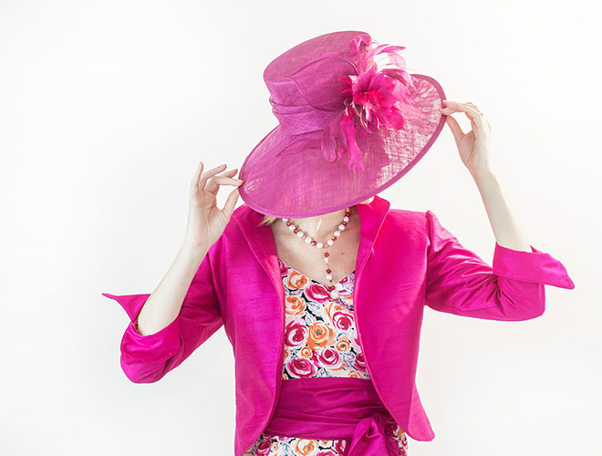 Pink Silk Jacket and Hat
