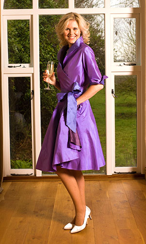 Purple Silk Wrap Dress Mother Of The Bride Perri Ashby