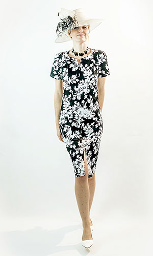 Black and white occasion dress