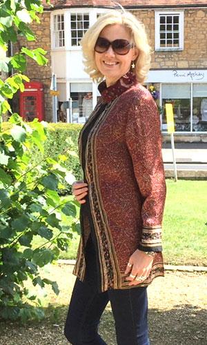 Brown Silk Perri Ashby Kaftan