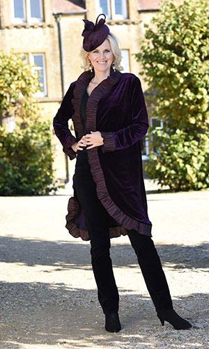 Purple Velvet Coat