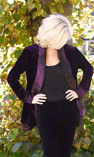 Purple Silk Velvet Jacket Perri Ashby