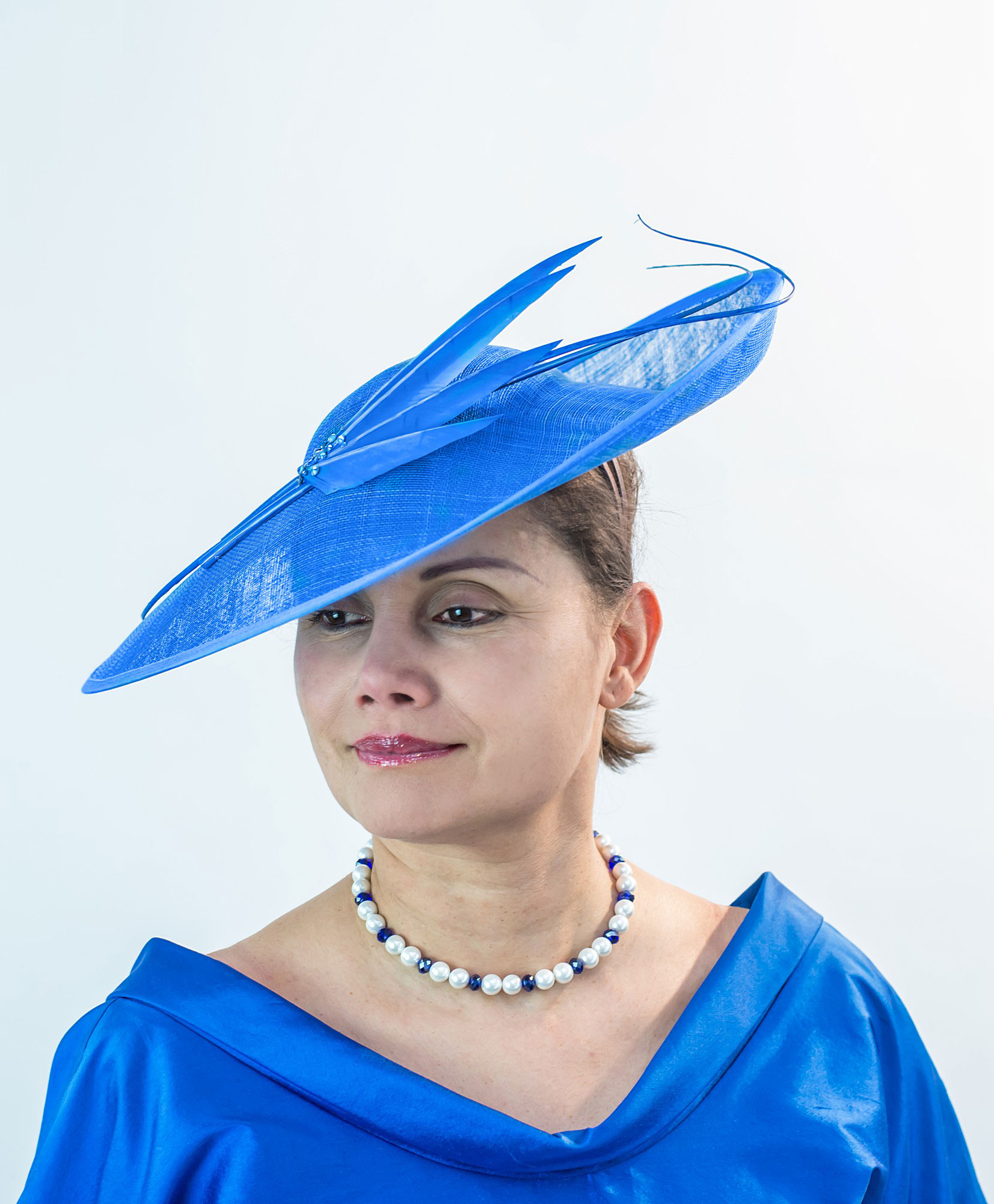 Royal Blue Occasion Hat