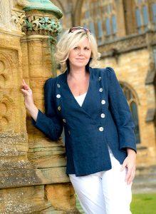 Linen cross over jacket Perri Ashby